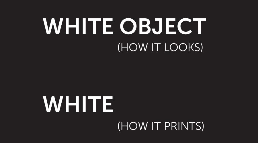 White overprint