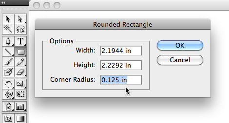 Illustrator's rounded rectangle tool