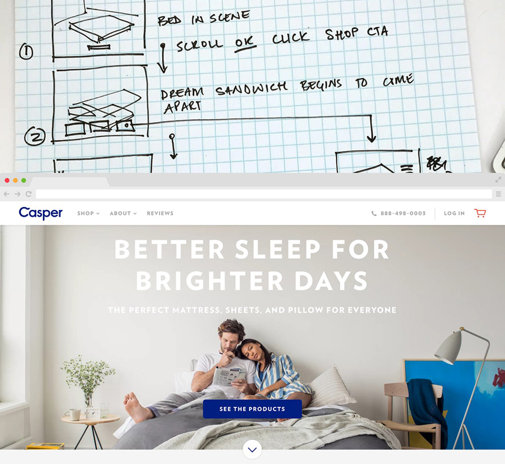 Casper site design