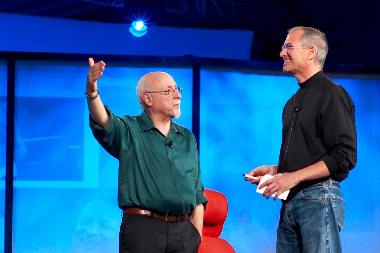Walt Mossberg with Steve Jobs