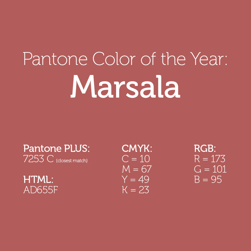Pantone 2015 Color Of The Year Marsala The Graphic Mac