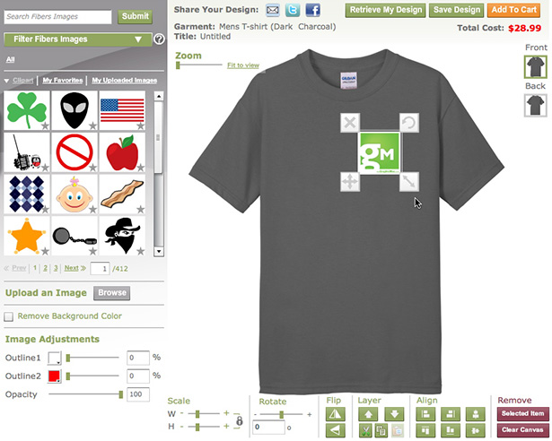 Fibers.com customization
