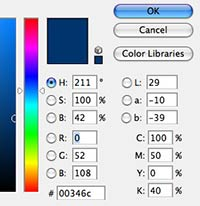 Quickly find the CMYK equivalent of a Pantone color in Photoshop or