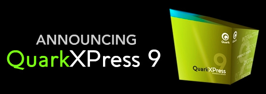 Announcing Quark XPress 9