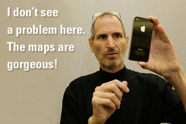 Steve Jobs iOS 6 Maps