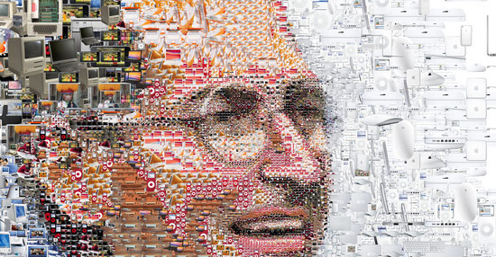 Cool art: Steve Jobs collage - The Graphic Mac