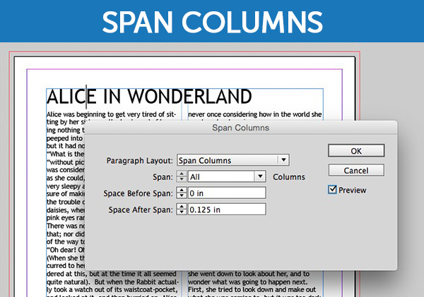 InDesign's Span Columns