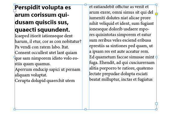 InDesign column spanning