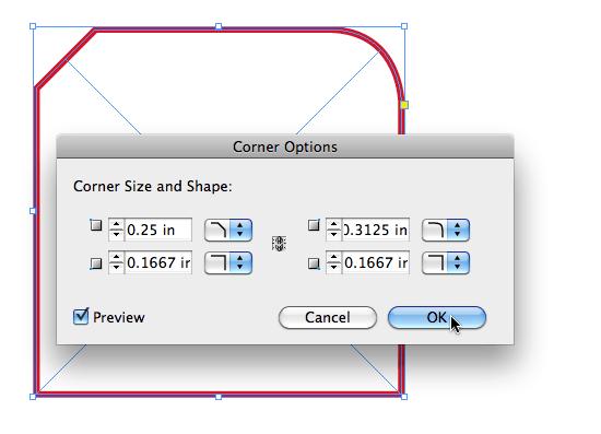InDesign CS5 Corner Options