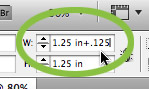 InDesign measurement input
