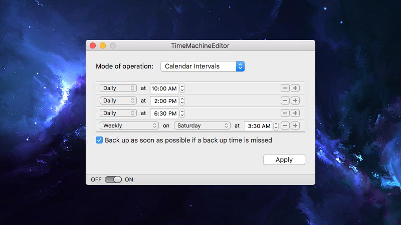 TMEditor - calendar interval