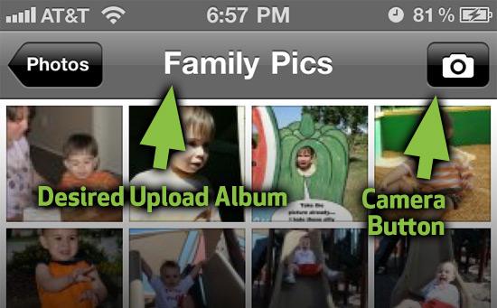 Facebook mobile album trick