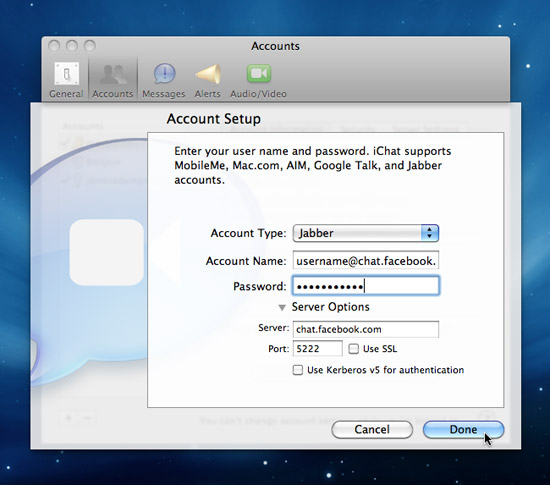 iChat with Facebook