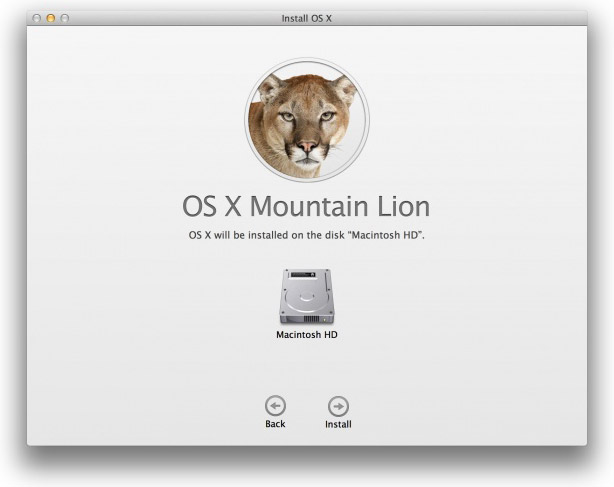 OS X Mountain Lion boot disc