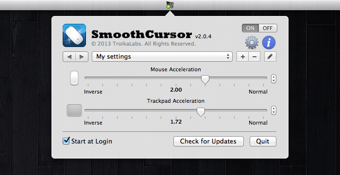 SmoothCursor settings