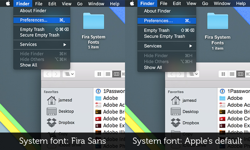 Fira System Font Replacement