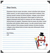 Free Christmas Mail stationery pack - The Graphic Mac
