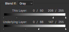 Photoshop - Blend If Gray