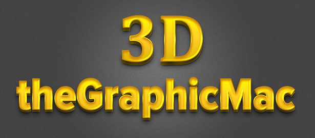 Free 3D gold text template for Photoshop – The Graphic Mac