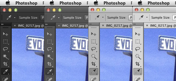 Photoshop CS6 interface