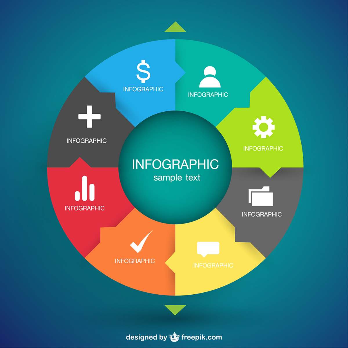 Circular infographic vector art