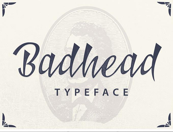 Badhead font