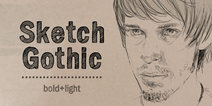Sketch Gothic font