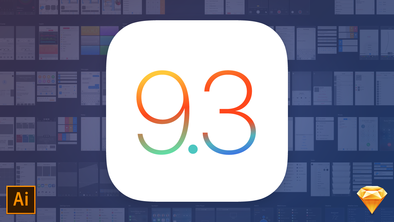 iOS 9.3 UI Kit download