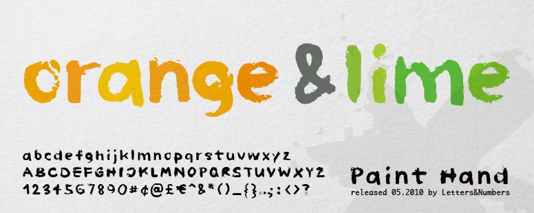 Paint Hand font