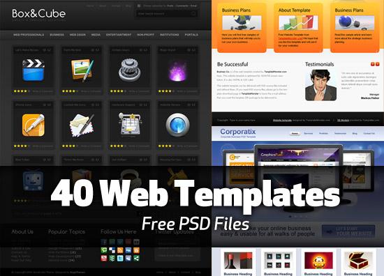 40 Free PSD web templates