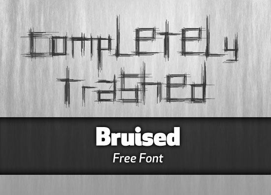 Bruised font