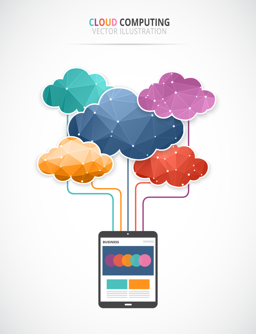 Free Cloud Computing vector art -4