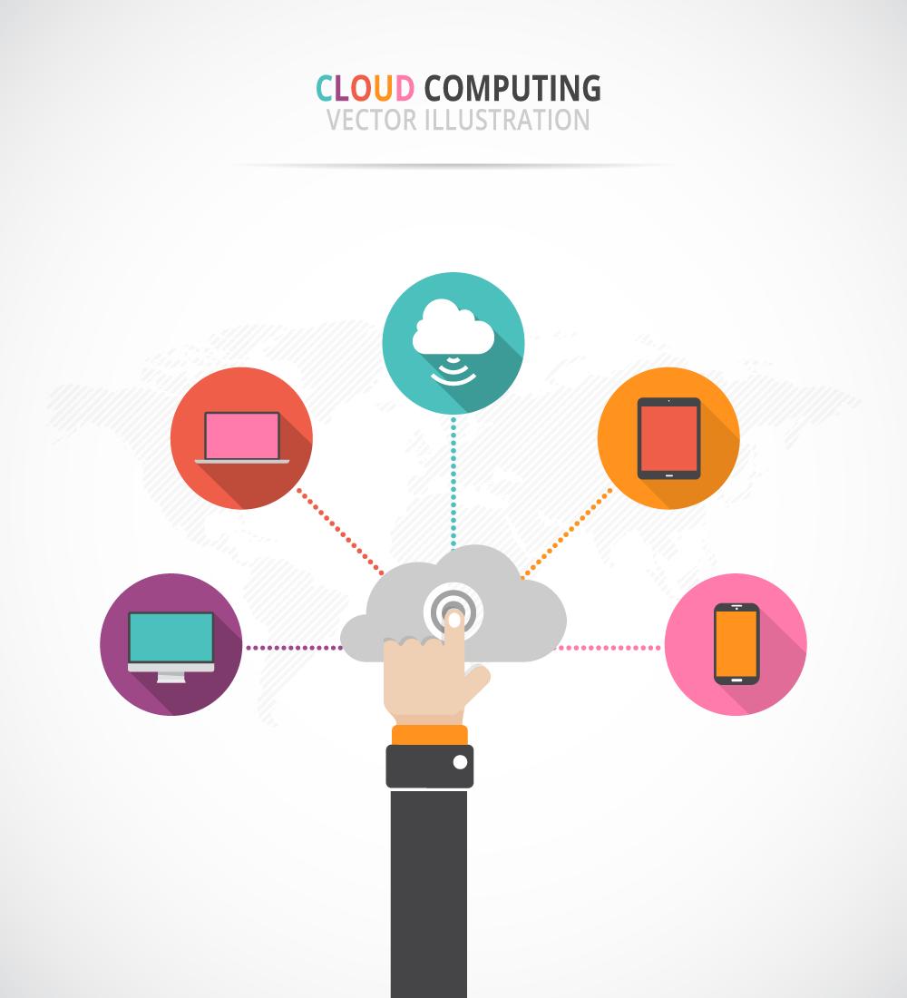 Free Cloud Computing vector art -5