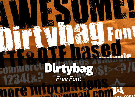 Free font: Dirtybag