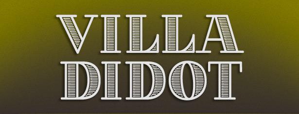 Villa Didot font