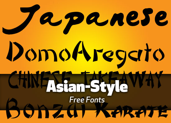 Free Asian Style Fonts