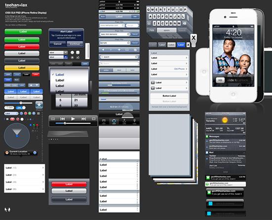 iOS5 GUI template