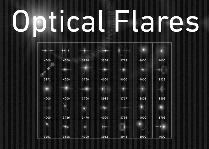 Optical flare brushes