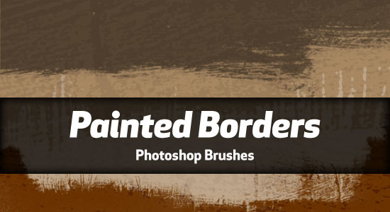 Painted Borders Photoshop Brushes