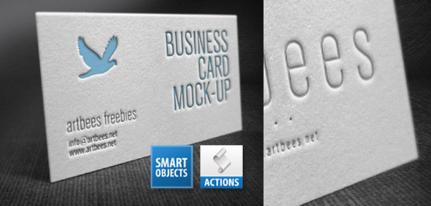 Letterpress Business Card Mockup