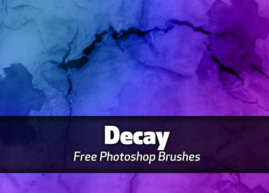 Decay Photoshop brushes