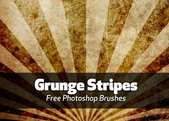great set of grungy lined Photoshop brushes