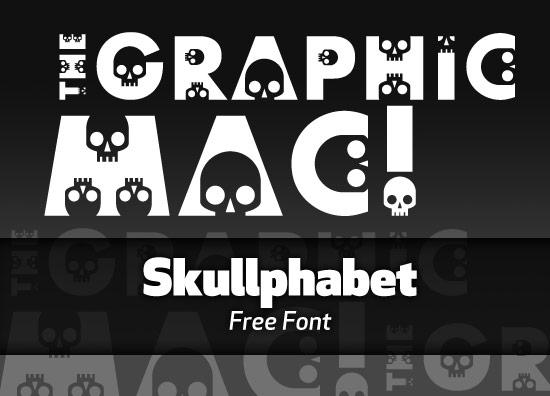 Skullphabet font