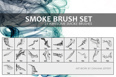 Free smoke brushes for Photoshop