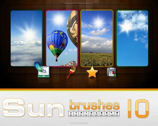 Photoshop Sun Brushes