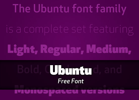 Free Font: Ubuntu font family - The Graphic Mac Ubuntu Font
