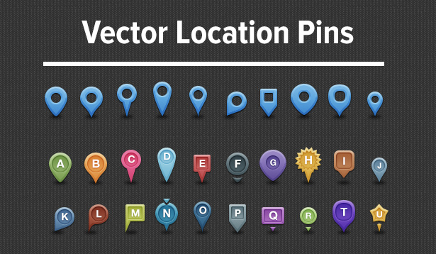 Vector location pins