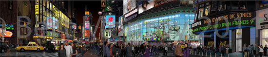 Times Square Photoshop painting