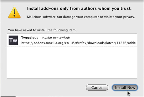 Disable extension install delay in Firefox – The Graphic Mac