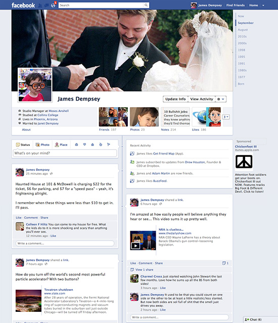New Facebook Timeline Profile page